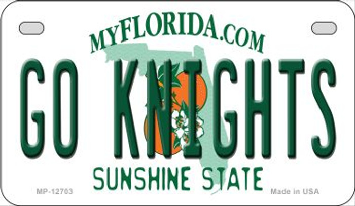 Go Knights Novelty Metal Motorcycle Plate MP-12703