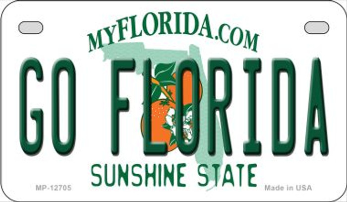Go Florida Novelty Metal Motorcycle Plate MP-12705