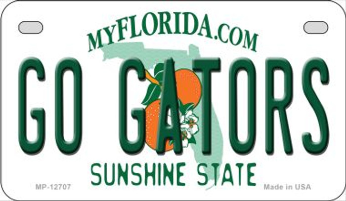 Go Gators Novelty Metal Motorcycle Plate MP-12707