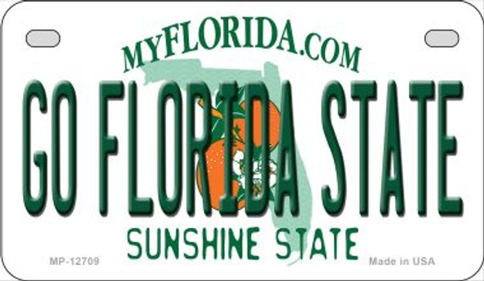 Go Florida State Novelty Metal Motorcycle Plate MP-12709
