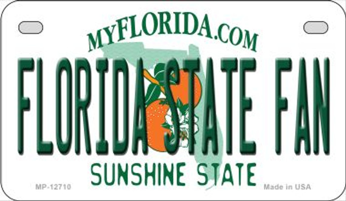 Florida State Fan Novelty Metal Motorcycle Plate MP-12710