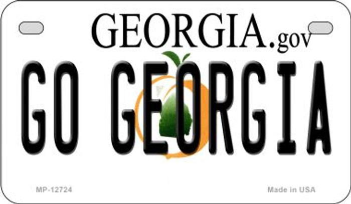 Go Georgia Novelty Metal Motorcycle Plate MP-12724