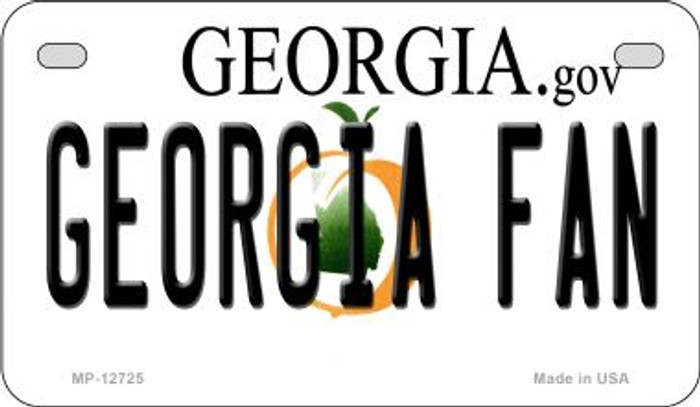 Georgia Fan Novelty Metal Motorcycle Plate MP-12725