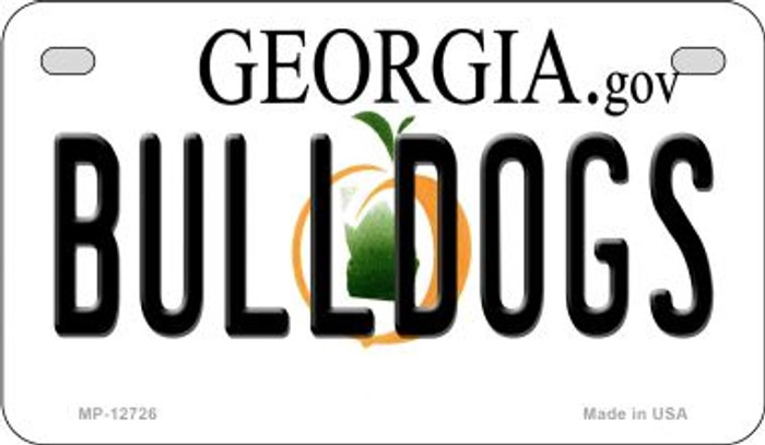Bulldogs Novelty Metal Motorcycle Plate MP-12726
