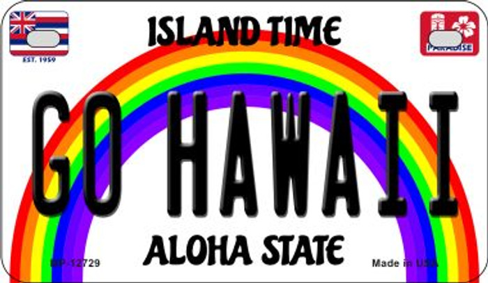 Go Hawaii Novelty Metal Motorcycle Plate MP-12729