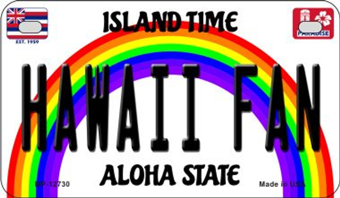 Hawaii Fan Novelty Metal Motorcycle Plate MP-12730