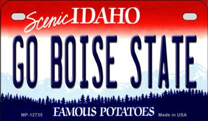 Go Boise State Novelty Metal Motorcycle Plate MP-12735