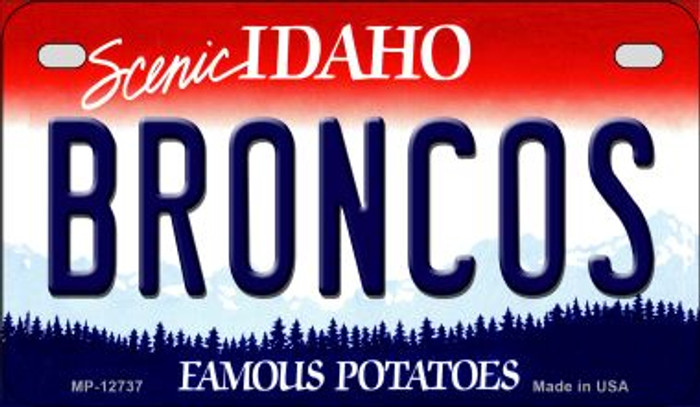 Broncos Novelty Metal Motorcycle Plate MP-12737