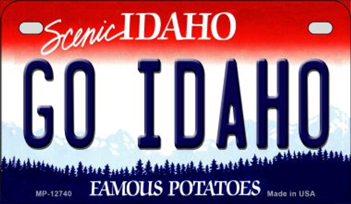 Go Idaho Novelty Metal Motorcycle Plate MP-12740