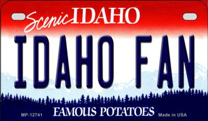 Idaho Fan Novelty Metal Motorcycle Plate MP-12741