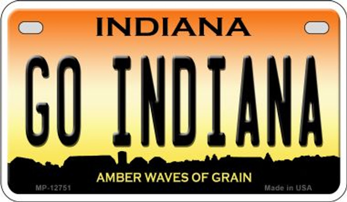 Go Indiana Novelty Metal Motorcycle Plate MP-12751