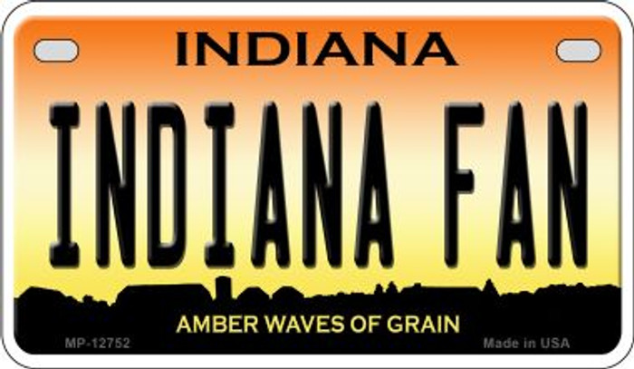 Indiana Fan Novelty Metal Motorcycle Plate MP-12752