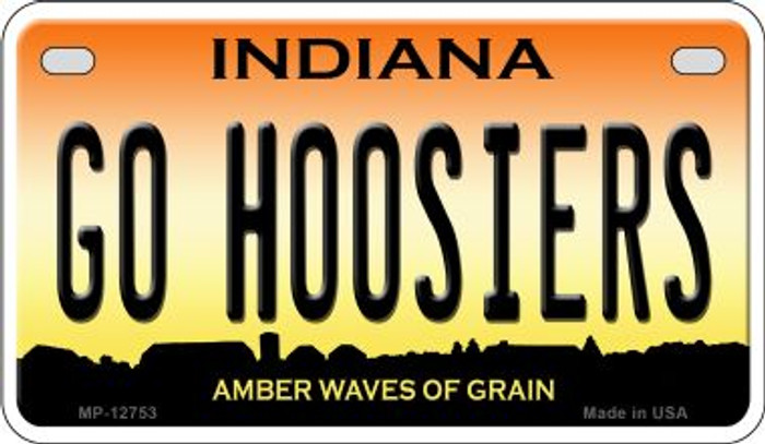 Go Hoosiers Novelty Metal Motorcycle Plate MP-12753