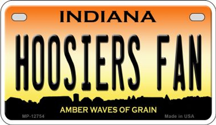 Hoosiers Fan Novelty Metal Motorcycle Plate MP-12754