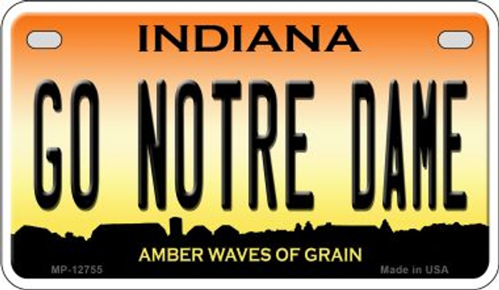 Go Notre Dame Novelty Metal Motorcycle Plate MP-12755