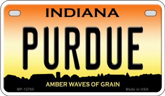 Purdue Novelty Metal Motorcycle Plate MP-12760