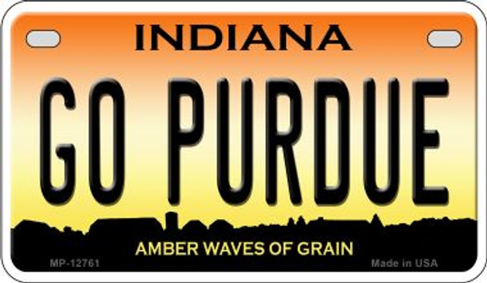 Go Purdue Novelty Metal Motorcycle Plate MP-12761