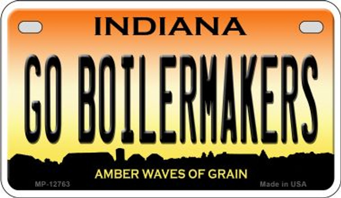 Go Boilermakers Novelty Metal Motorcycle Plate MP-12763