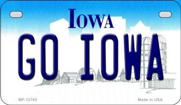 Go Iowa Novelty Metal Motorcycle Plate MP-12765