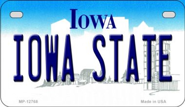 Iowa State Novelty Metal Motorcycle Plate MP-12768