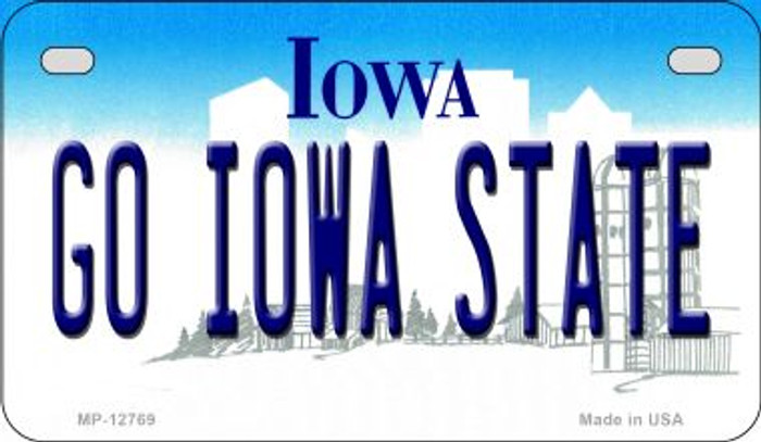 Go Iowa State Novelty Metal Motorcycle Plate MP-12769