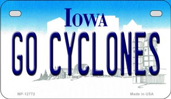 Go Cyclones Novelty Metal Motorcycle Plate MP-12772