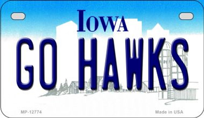 Go Hawks Novelty Metal Motorcycle Plate MP-12774