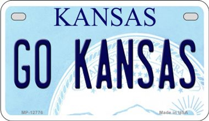 Go Kansas Novelty Metal Motorcycle Plate MP-12776