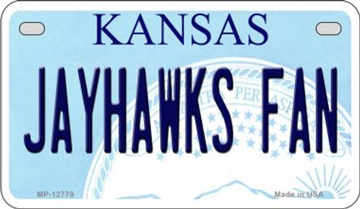 Jayhawks Fan Novelty Metal Motorcycle Plate MP-12779