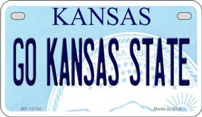 Go Kansas State Novelty Metal Motorcycle Plate MP-12780