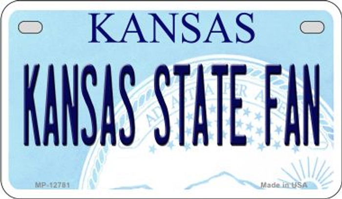Kansas State Fan Novelty Metal Motorcycle Plate MP-12781