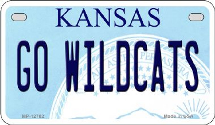 Go Wildcats Novelty Metal Motorcycle Plate MP-12782