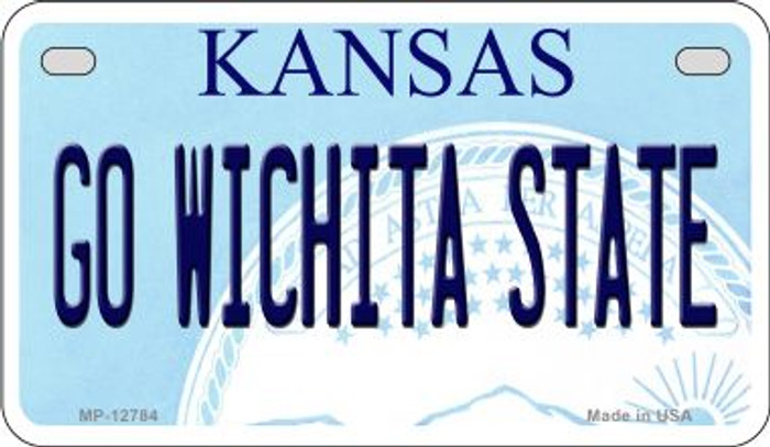 Go Wichita State Novelty Metal Motorcycle Plate MP-12784