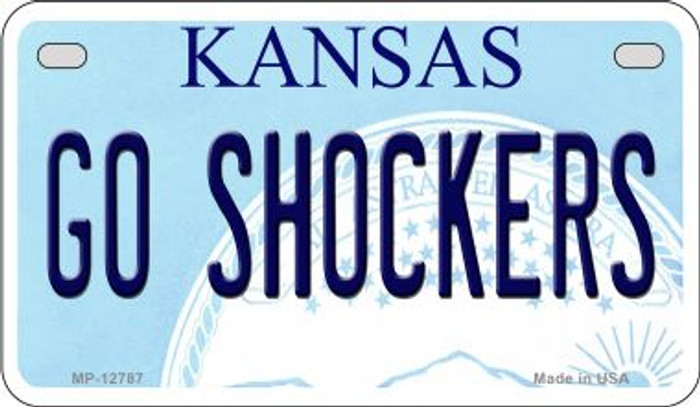 Go Shockers Novelty Metal Motorcycle Plate MP-12787