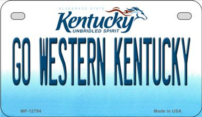 Go Western Kentucky Novelty Metal Motorcycle Plate MP-12794
