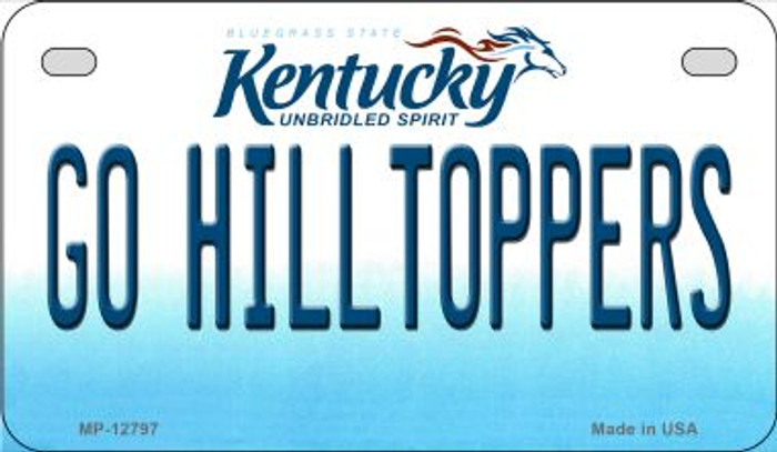 Go Hilltoppers Novelty Metal Motorcycle Plate MP-12797