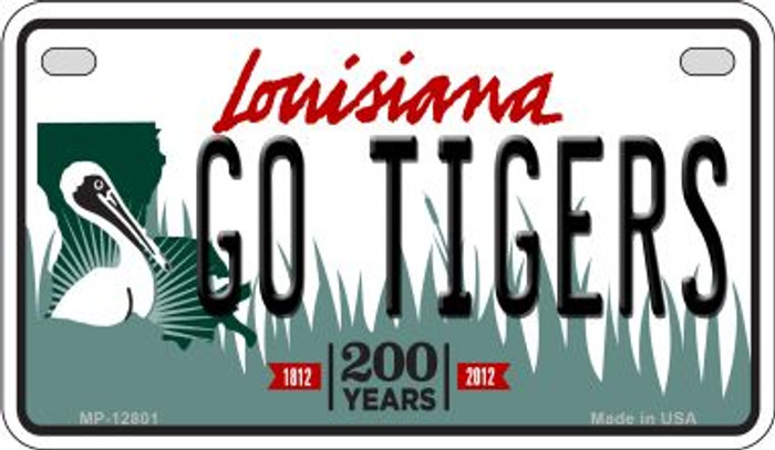 Go Tigers Novelty Metal Motorcycle Plate MP-12801