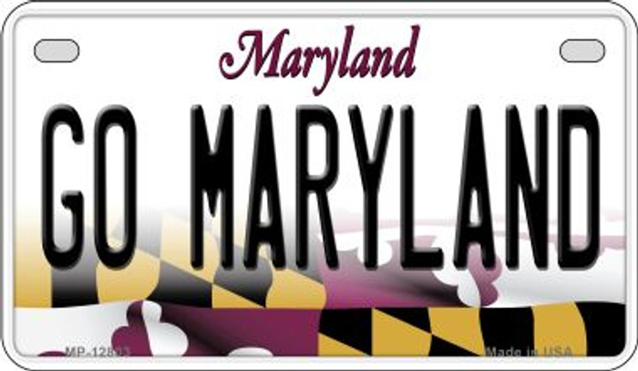 Go Maryland Novelty Metal Motorcycle Plate MP-12803