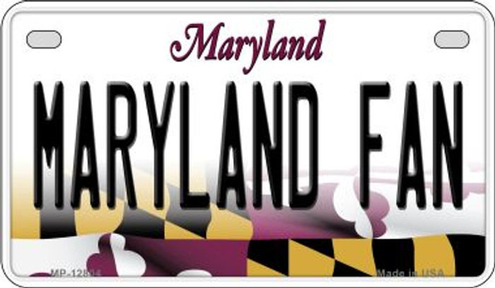 Maryland Fan Novelty Metal Motorcycle Plate MP-12804