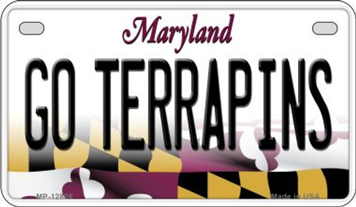 Go Terrapins Novelty Metal Motorcycle Plate MP-12806