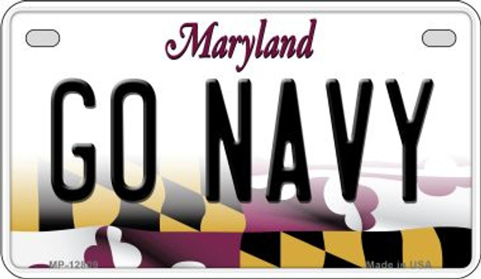 Go Navy Novelty Metal Motorcycle Plate MP-12809
