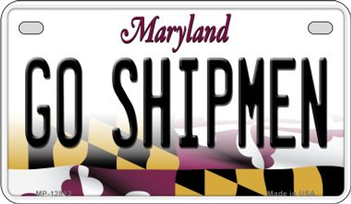 Go Shipmen Novelty Metal Motorcycle Plate MP-12812