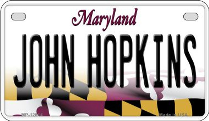 Johns Hopkins Novelty Metal Motorcycle Plate MP-12814