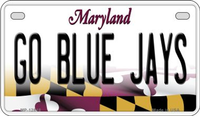 Go Blue Jays Novelty Metal Motorcycle Plate MP-12818