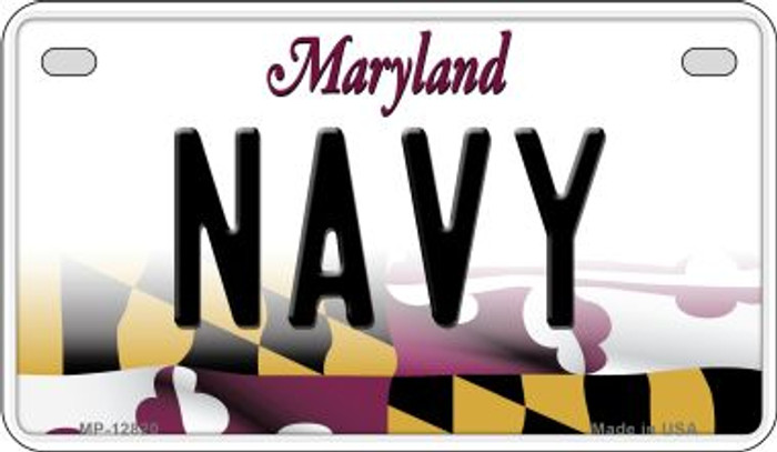 Navy Novelty Metal Motorcycle Plate MP-12820