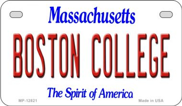 Boston College Novelty Metal Motorcycle Plate MP-12821