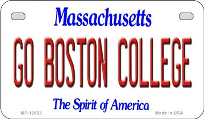 Go Boston College Novelty Metal Motorcycle Plate MP-12822