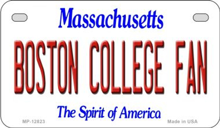 Boston College Fan Novelty Metal Motorcycle Plate MP-12823