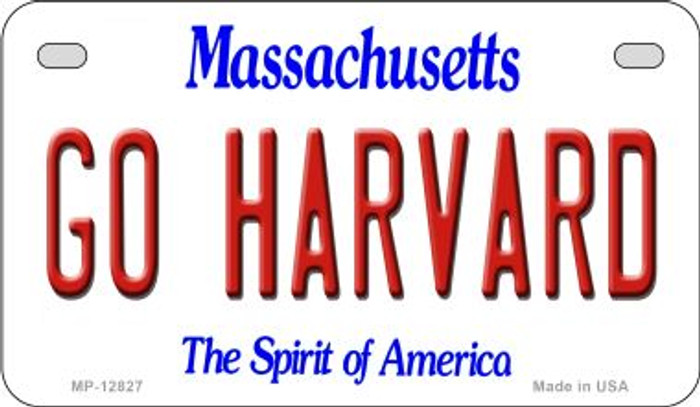 Go Harvard Novelty Metal Motorcycle Plate MP-12827