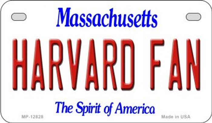 Harvard Fan Novelty Metal Motorcycle Plate MP-12828